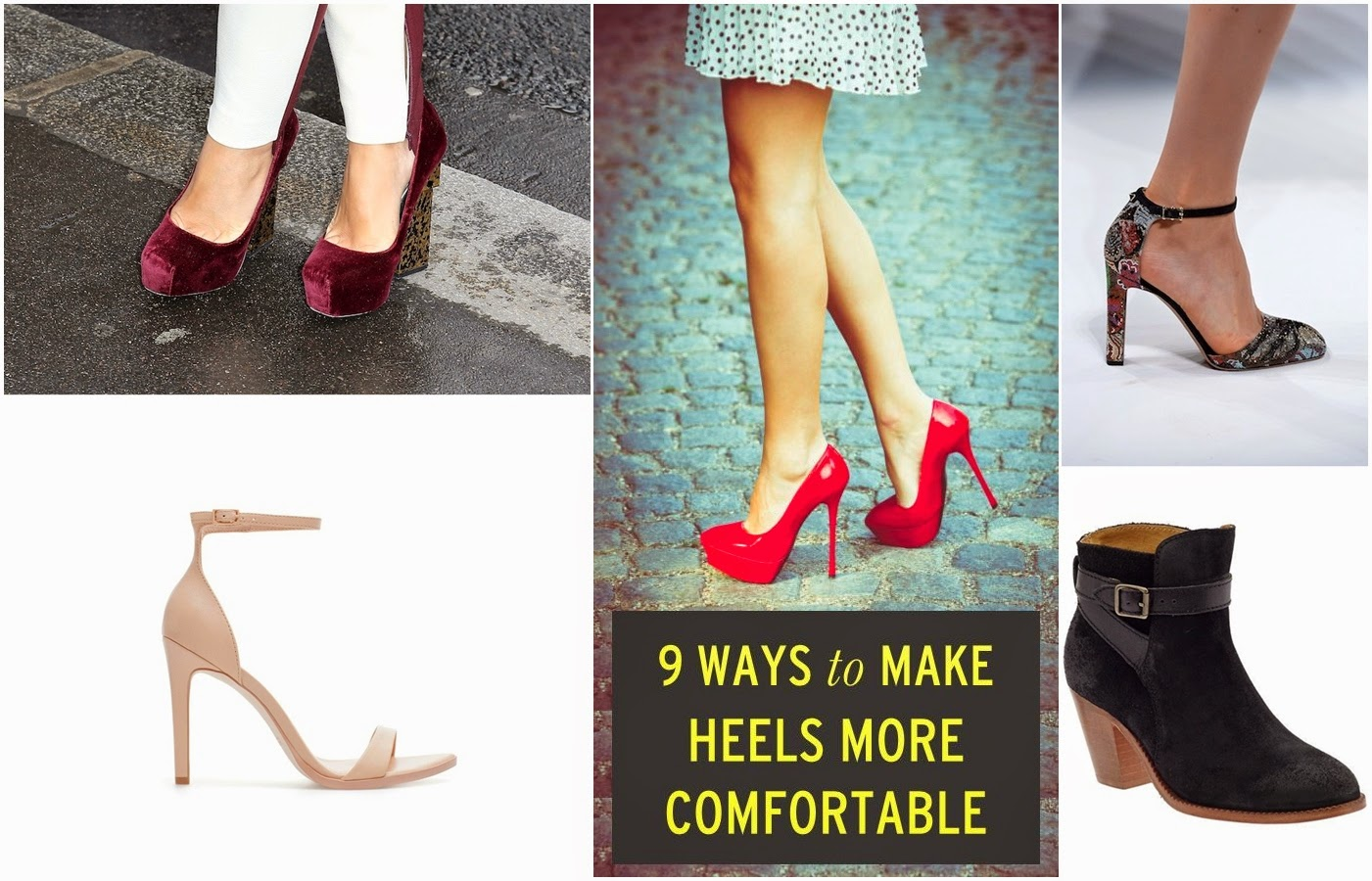 8 Ways to Make High Heel Shoes Comfortable