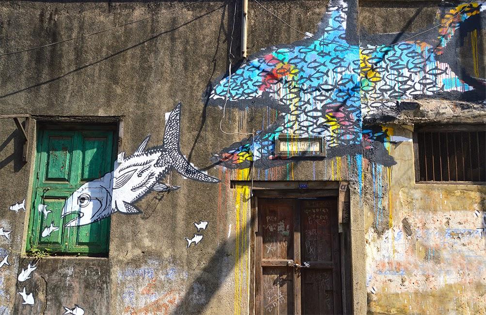 Pune Street Art Project Mural Kasba Peth fish