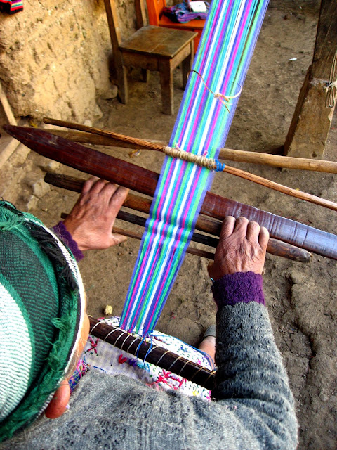 Weaving in Todos Santos, Guatemala
