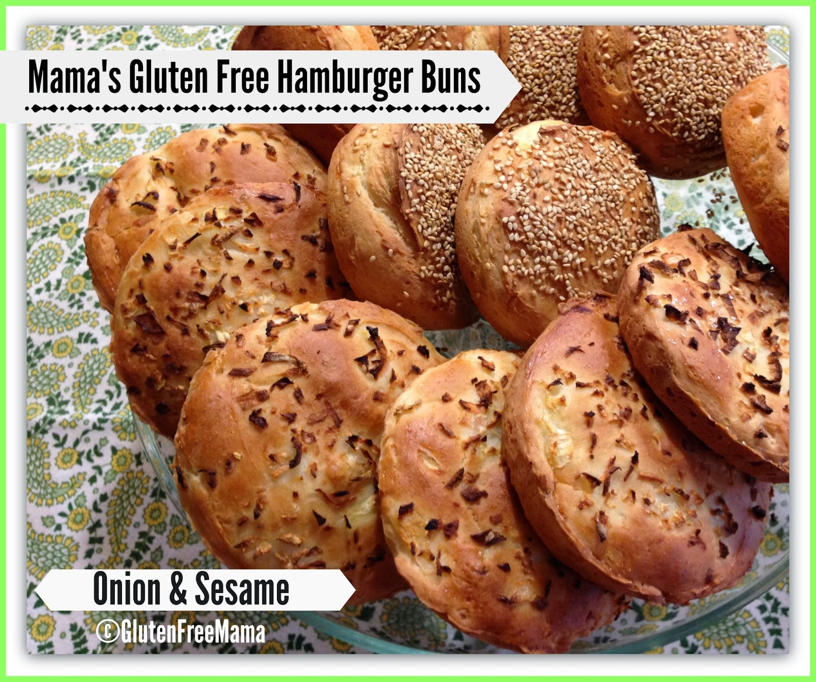 Gluten Free Basic Hamburger Buns with 4 Variations! ~Dairy Free ...