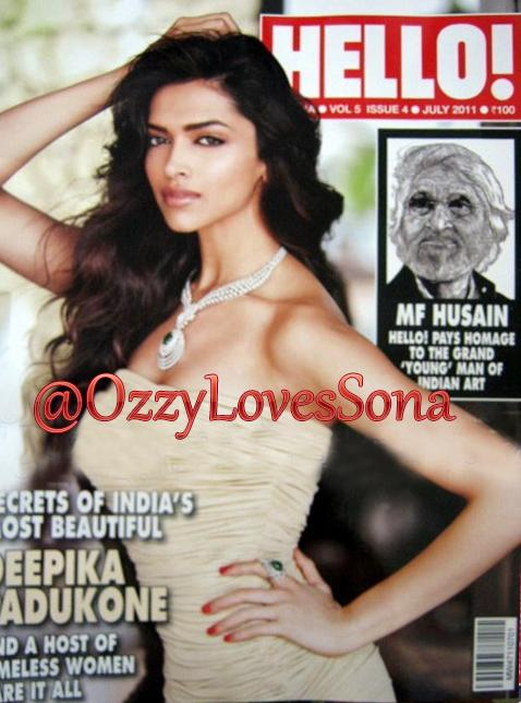 Deepika Padukone - Deepika Padukone On Hello Magazine Cover July 2011 Edition