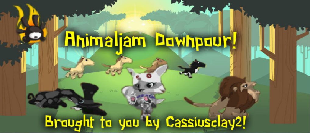 Animaljam Downpour! Having a blast with Cassiusclay2!