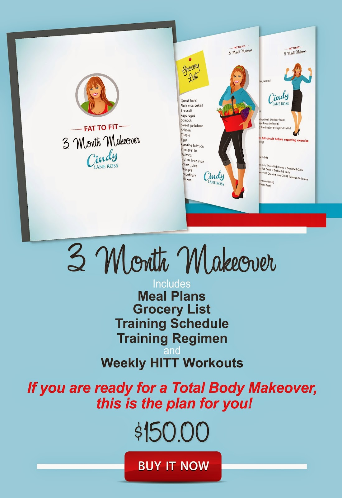 Fat to Fit 3 Month Makeover with Cindy Lane Ross