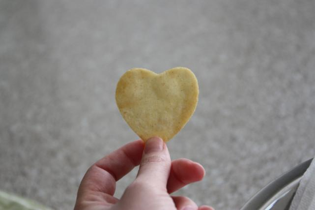 Be Different Act NormalHeart Shaped Chips