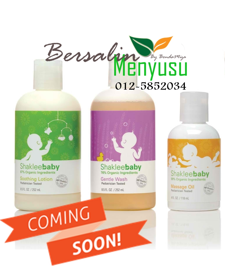 COMING SOON : SHAKLEE BABY, NATURAL, ORGANIK, PEDIATRICIAN TESTED, HYPOALLERGENIC
