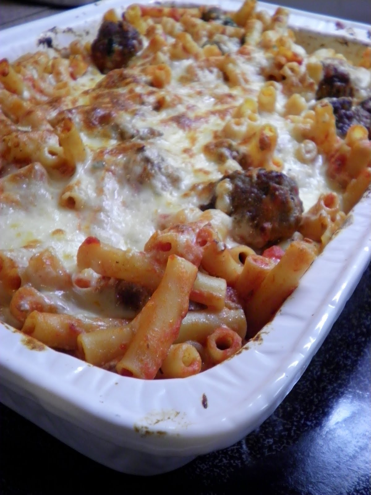 ... baked penne with meatballs recipe dishmaps baked penne with meatballs