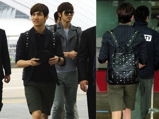 TVXQ Changmin with MCM backpack