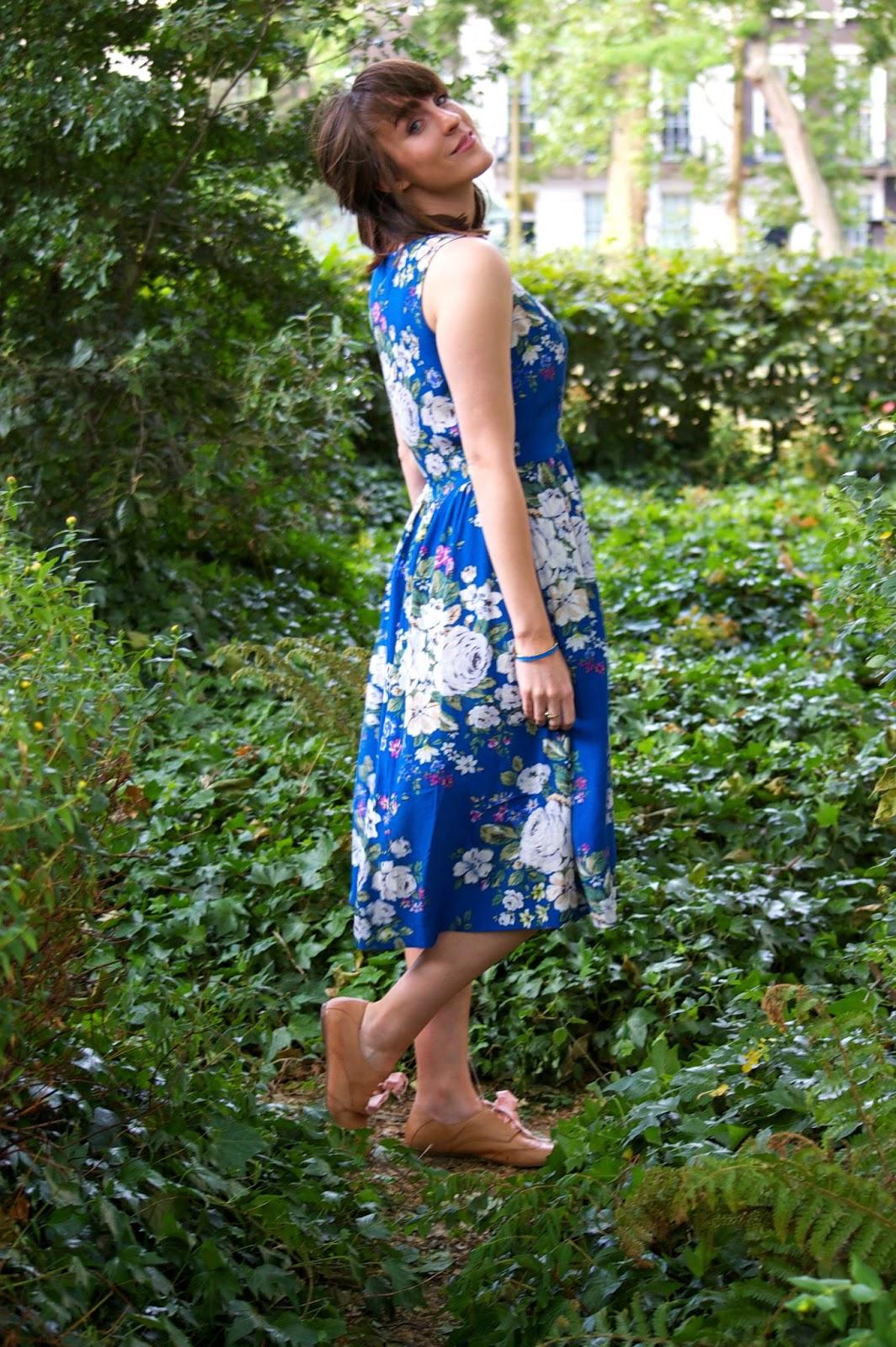 cath kidston hampstead rose sleeveless dress