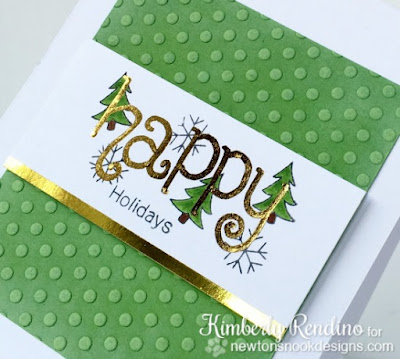 foiled holiday card | Minc | Newton's Nook | handmade card | kimpletekreativity.blogspot.com