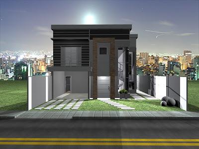 vivicad casa moderna criada em terreno de 300m