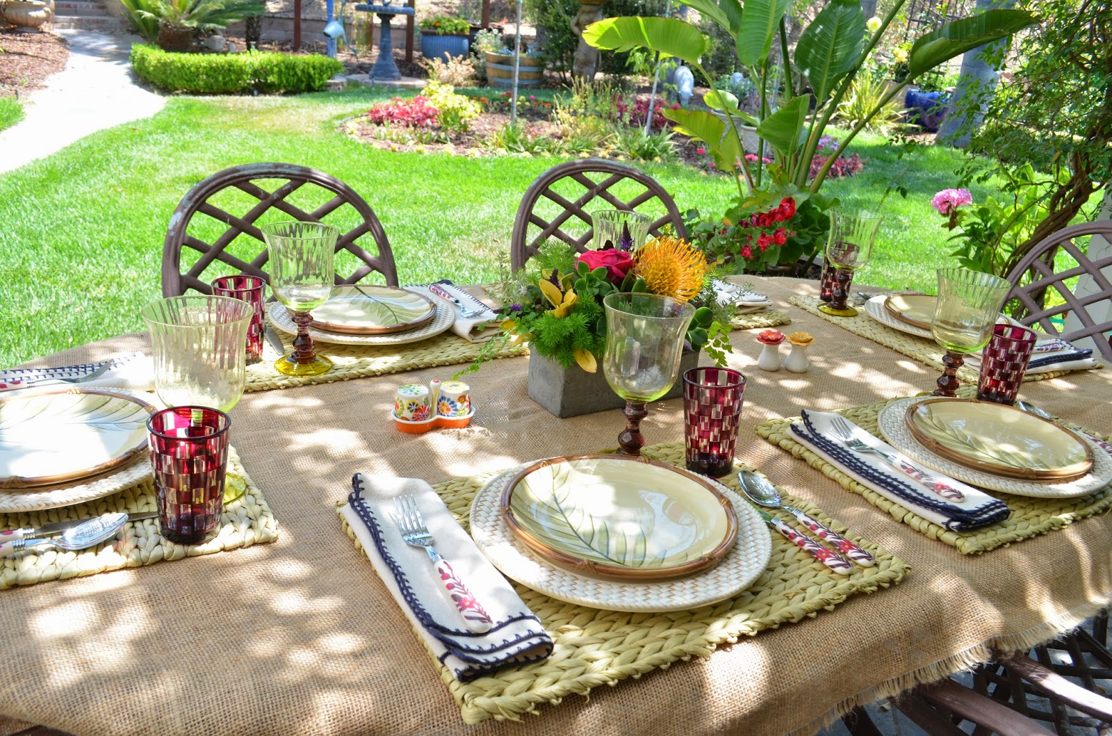 Entertaining From an Ethnic Indian Kitchen Fathers day tablescape