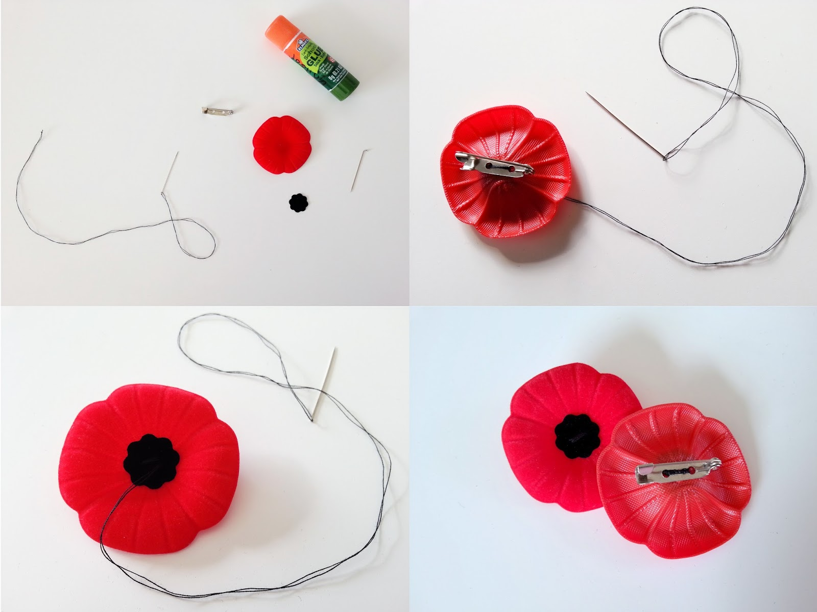my handmade home diy remembrance day poppy conversion updated
