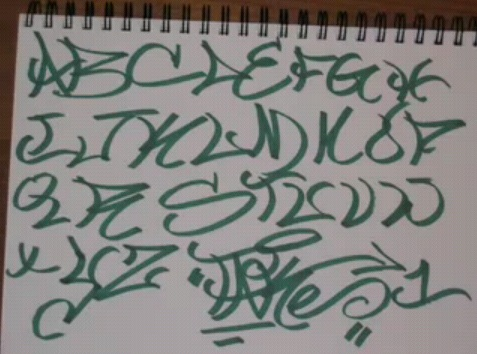 how to make cursive writing look 3d