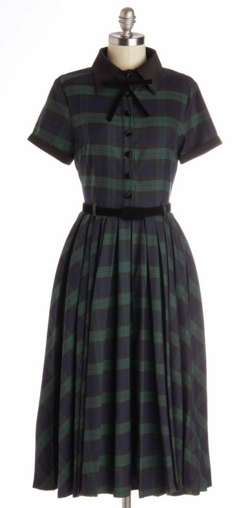 Collectif Tartan Dress