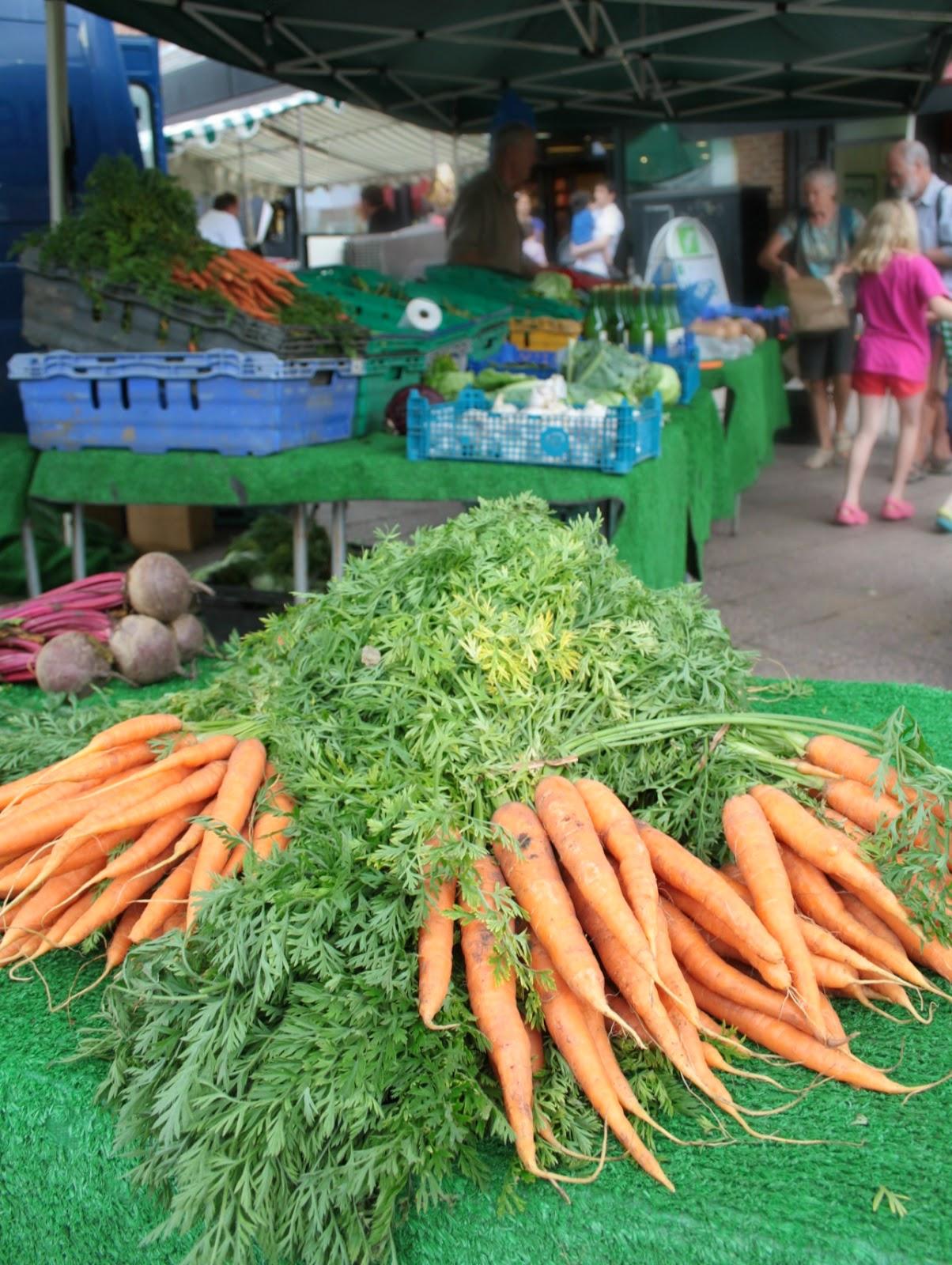 Fresh local vegetables at Berkhamsted Farmer's Market