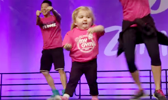 Audrey at the International Zumba Convention in Orlando