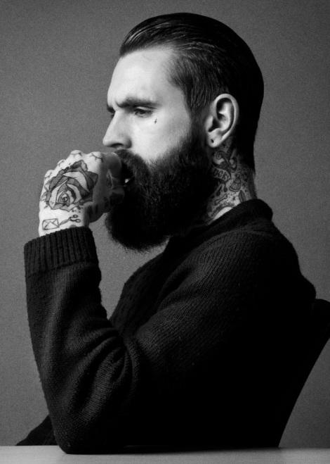 Ricki Hall Beard and Tattoos