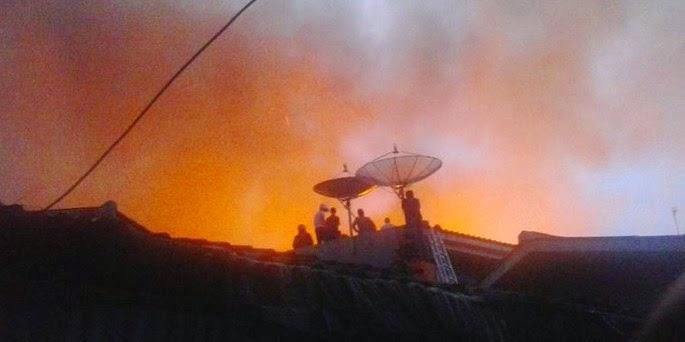 Kebakaran Jalan karang anyar Sawah Besar Jakarta Pusat