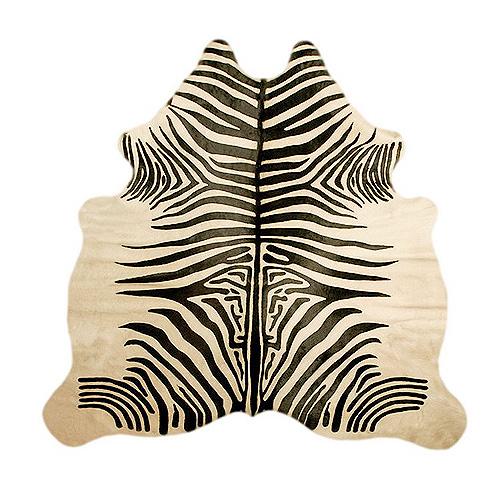 Gaby maz design alfombras y almohadones en cuero vacuno - Alfombras de cebra ...