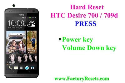Hard Reset HTC Desire 700 / 709d