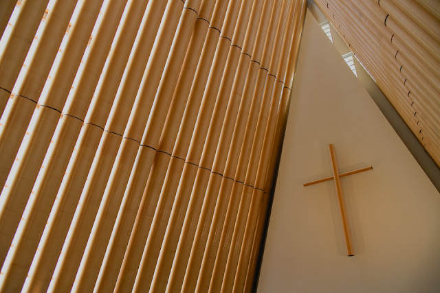 cardboard cathedral cross
