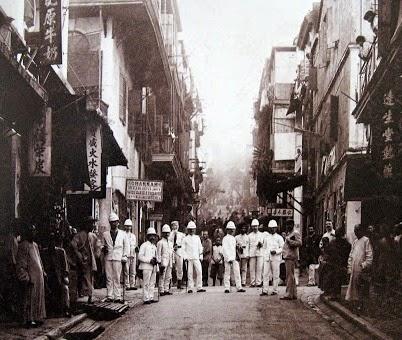 Inspección anti peste en Hong Kong 1890