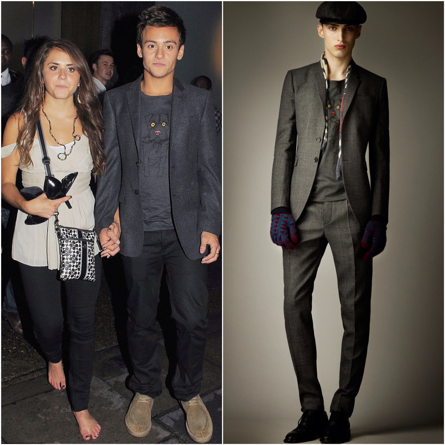00O00 London Menswear Blog Tom Daley in Burberry Prorsum