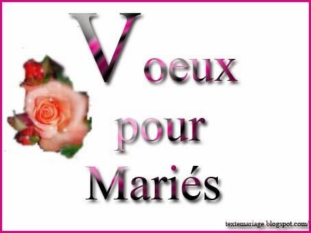 Voeux pour mariés
