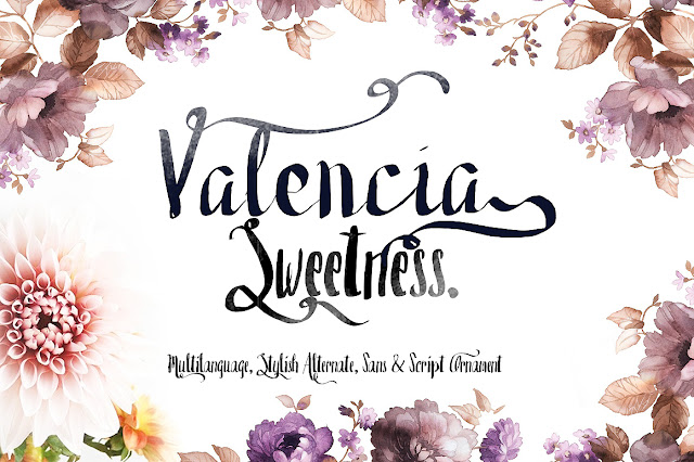 download valencia sweetness free font