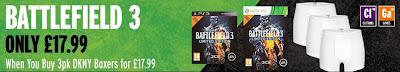 Battlefield 3: Special Edition plus 3 DKNY-Boxer-Shorts für 35,98 Pfund