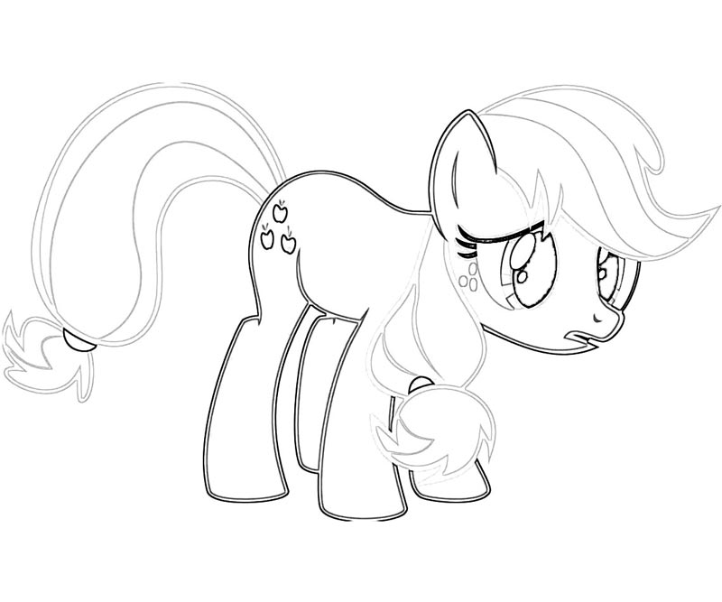 #26 My Little Pony Applejack Coloring Page