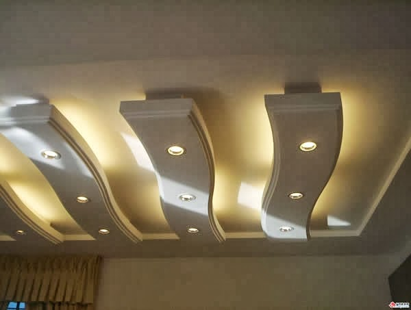 Cool exclusive false ceiling designs for living room and hidden lighting luxurious chandelier - False ceiling living room ...