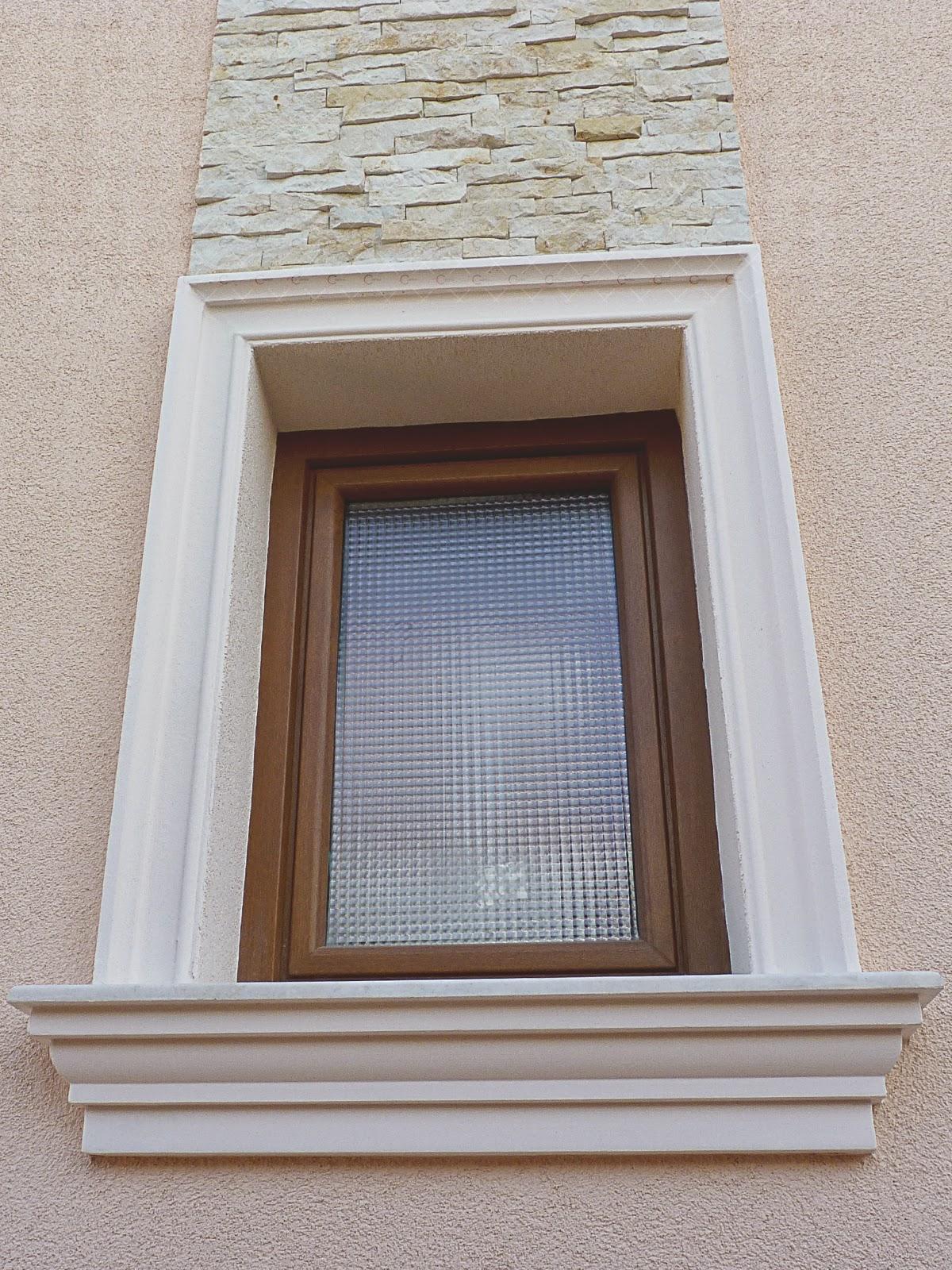 Ancadramente polistiren, pentru ferestre la exterior
