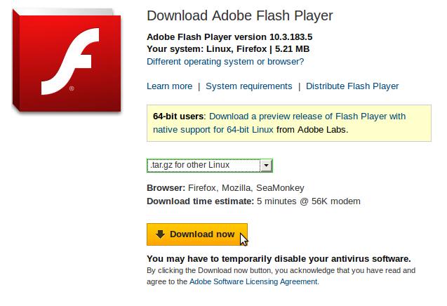 how to update adobe flash player plugin