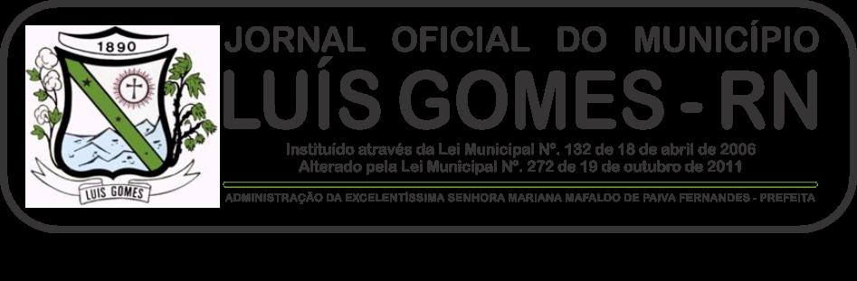 JORNAL OFICIAL DE LUIS GOMES/RN