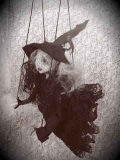 witch art doll, lulusapple, art doll, lulu lancaster