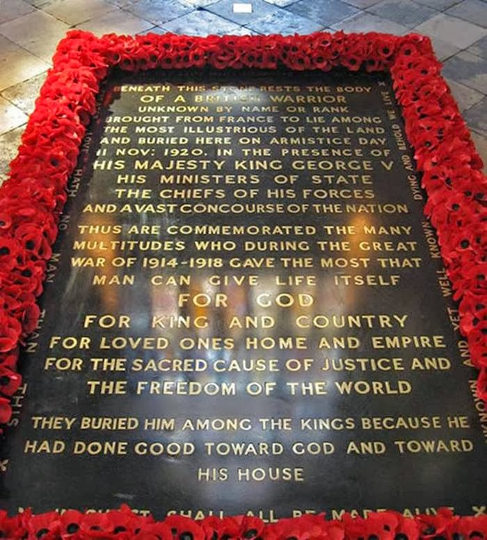 Tomb of the Unknown Warrior, Westminster Abbey in London, United Kingdom