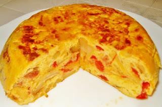 Receta de tortilla de chorizo