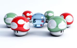 Nintendos Super Mario Mushrooms desktop wallpaper