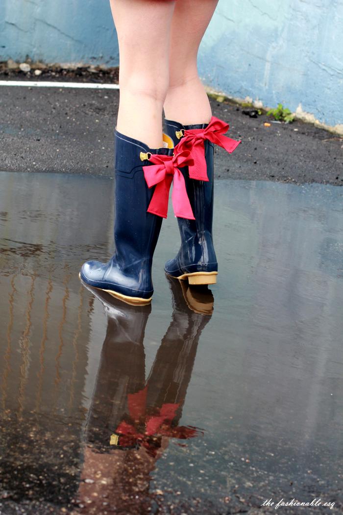 Joules Hunter Rain Boots Bows