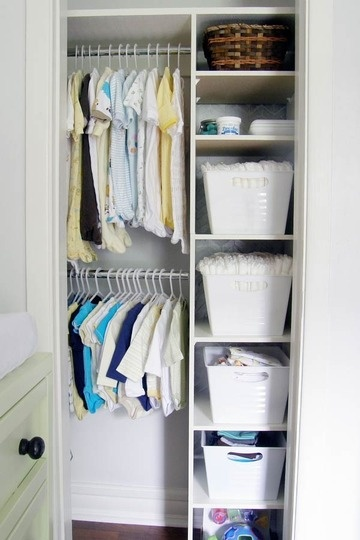 Nursery closet hangers : Small-kids-closet-ideas