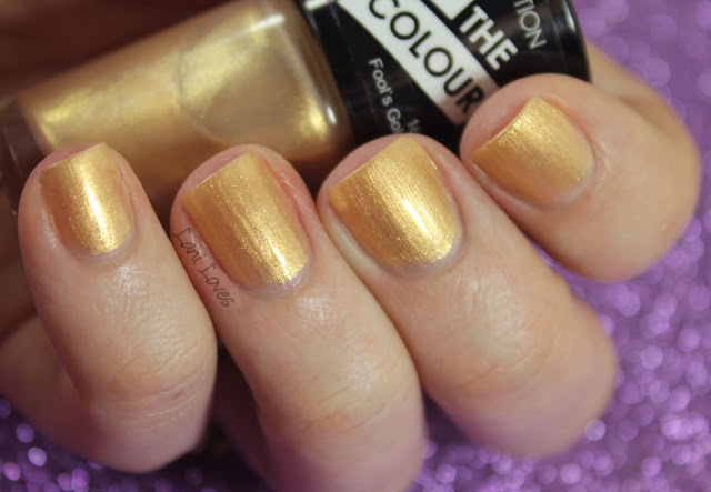 Collection Work the Colour Fool's Gold Nail Polish Swatches & Review