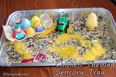 Chicken Themed Sensory Tub