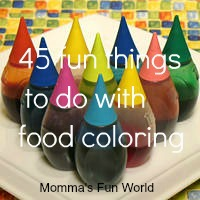 momma  39 s fun world 45 fun things you can do with food coloring   Can You Put Food Coloring In Water And Drink It