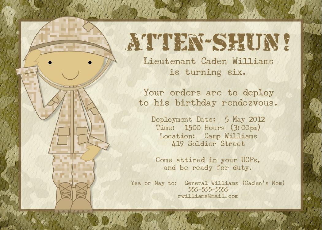 Bear river photo greetings soldier birthday party or baby shower soldier birthday party or baby shower invitation print filmwisefo