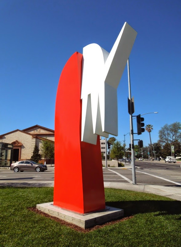 Not Socrates sculpture Santa Monica Boulevard
