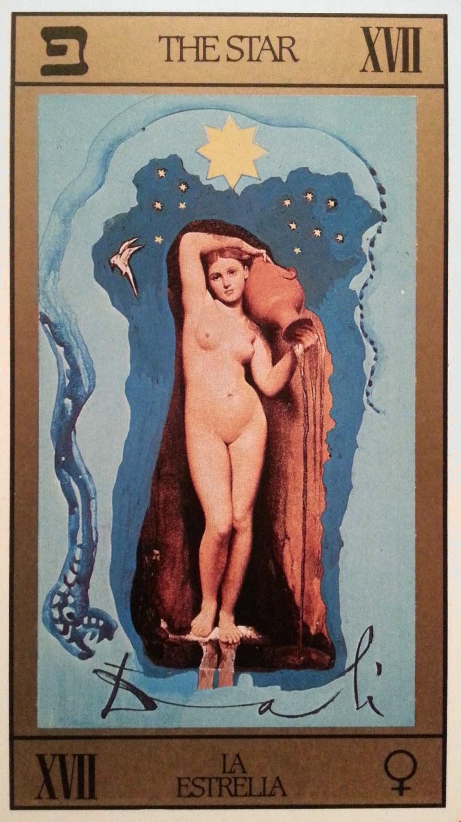 La Estrella. Tarot de Dali