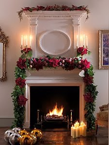 Fireplace Decorating for Christmas, Part 2