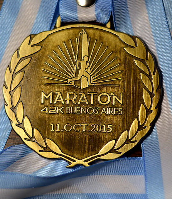 Maratón Buenos Aires 2015 42k medalla