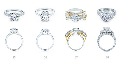 f4c661056a880 21 Pear Shape  22 Round Brilliant Ribbon Ring  23 Etoile with Pavé-set  Band  24 Emerald Cut with Tapered Baguettes